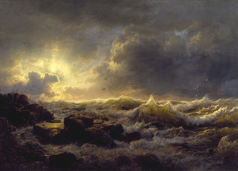Andreas_Achenbach_-_Clearing_Up—Coast_of_Sicily_-_Walters_37116